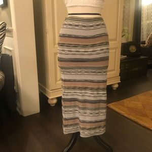 Free People striped knit pencil skirt size sm
